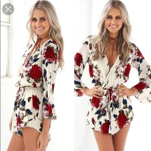 Other - Floral white romper
